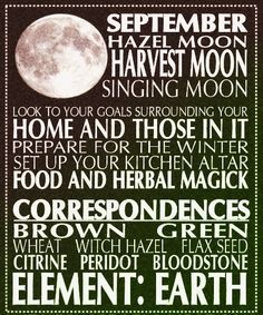 September's Harvest Moon – Red Witches Journey